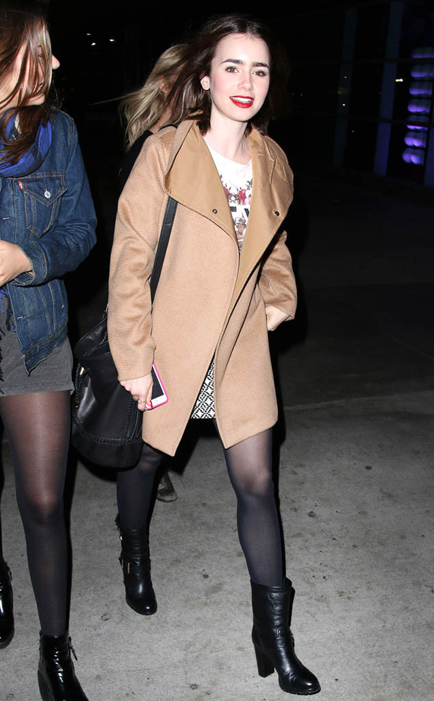 Lily Collins, Justin Timberlake Concert