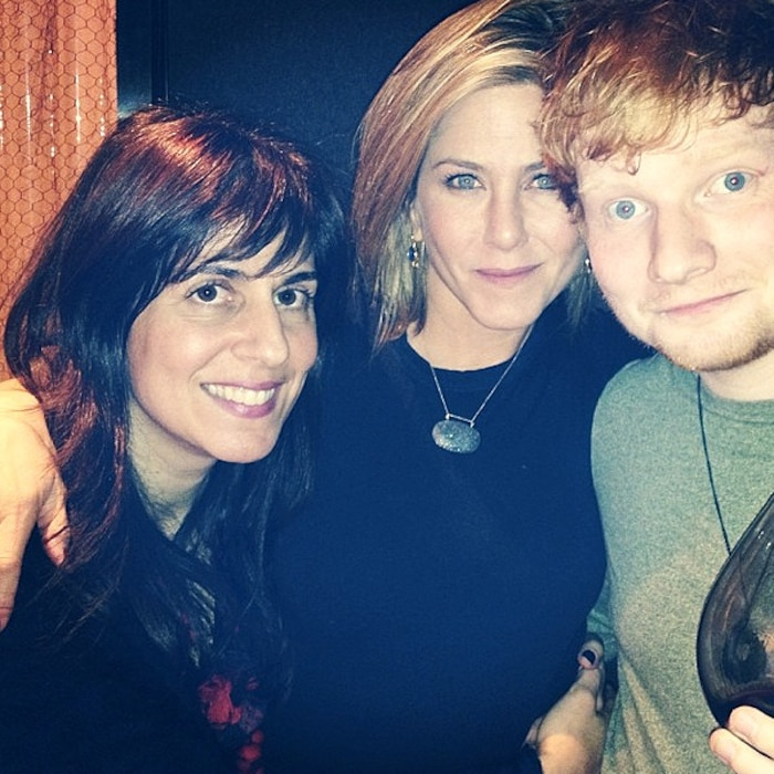 Aleen Keshishian, Jennifer Aniston, Ed Sheeran, Instagram