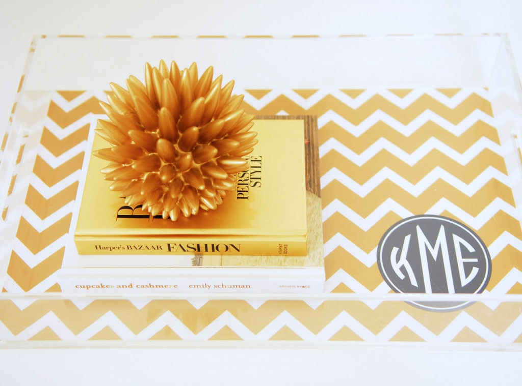 Hostess Gift Guide, PrettySmitten Personalized Lucite Serving Tray