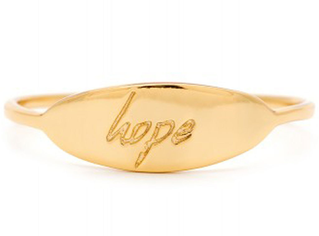 Holiday Charity Gift Guide, Gorjana Baird Hope Ring