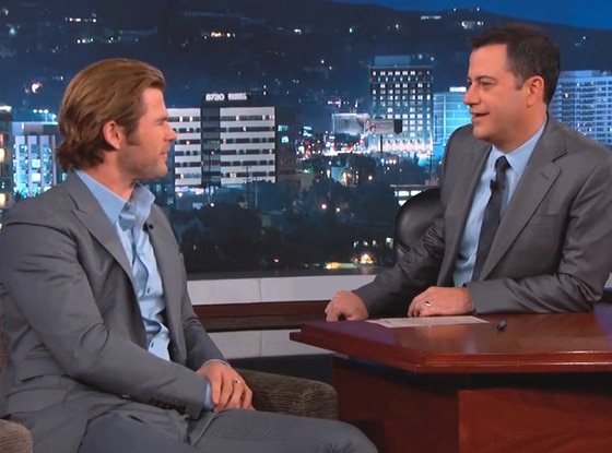 Chris Hemsworth, Jimmy Kimmel