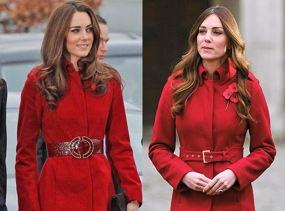 Kate Middleton, Duchess of Cambridge, Red Coat