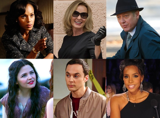 Blacklist, Scandal, Once Upon a Time, X Factor, Big Bang Theory, Coven
