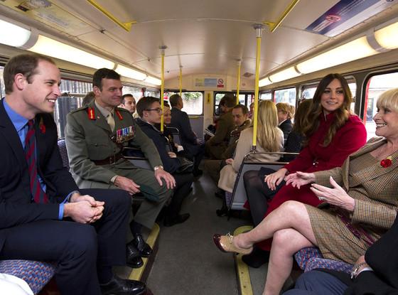 Prince William, Duke of Cambridge, Catherine, Duchess of Cambridge, Barbara Windsor, Kate Middleton