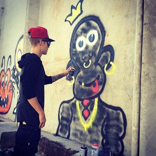 Justin Bieber, Instagram, Graffiti