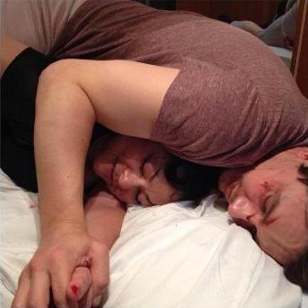 James Franco, sleeping