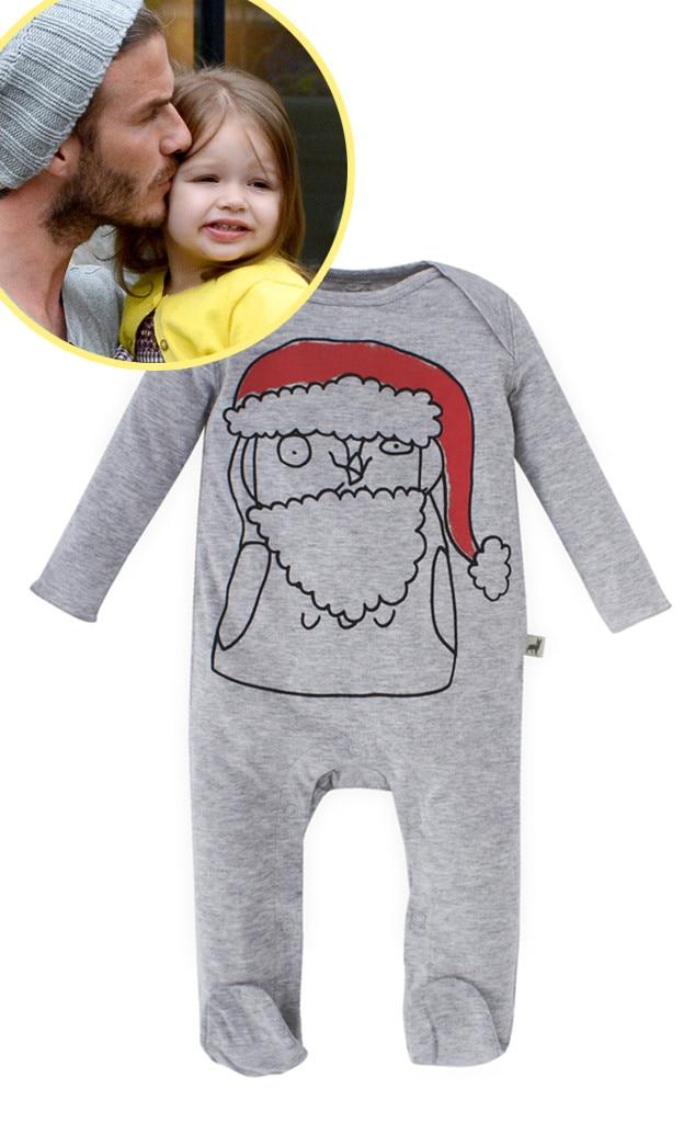 Stella McCartney Santa Onesie, Harper Beckham, Star-Wothy Kids Gifts