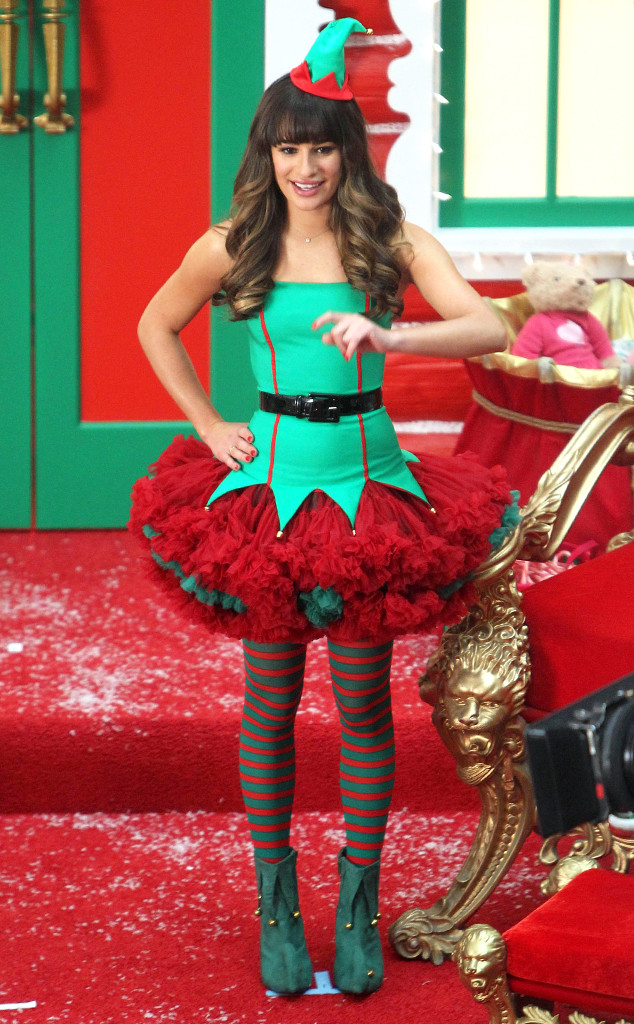 Lea Michele And Naya Rivera Dress As Sexy Elves For Glee