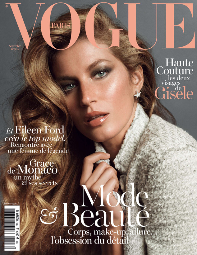 Gisele Bundchen, Vogue Paris Cover