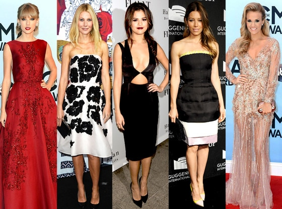 Gwyneth Paltrow, Taylor Swift, Carrie Underwood, Selena Gomez, Jessica Biel