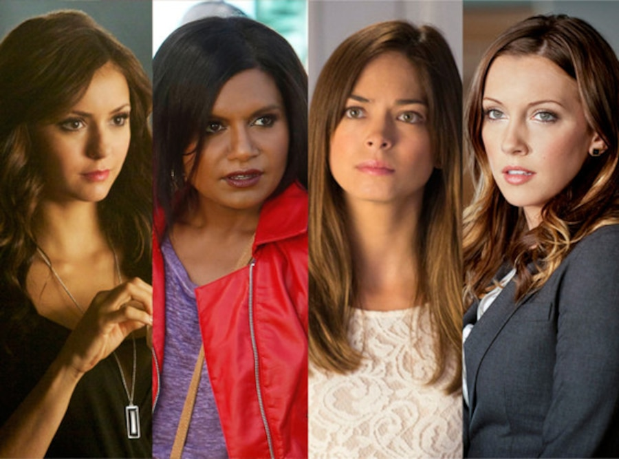 Katherine Pierce, Nina Dobrev, Cat Chandler, Kristin Kreuk, Laurel Lance, Katie Cassidy, Mindy Kaling, The Mindy Project