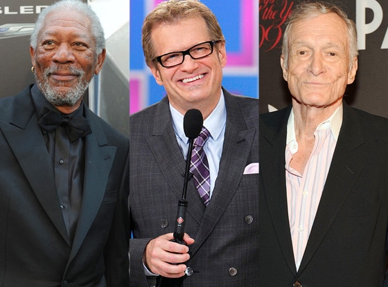 Morgan Freeman, Drew Carey, Hugh Hefner