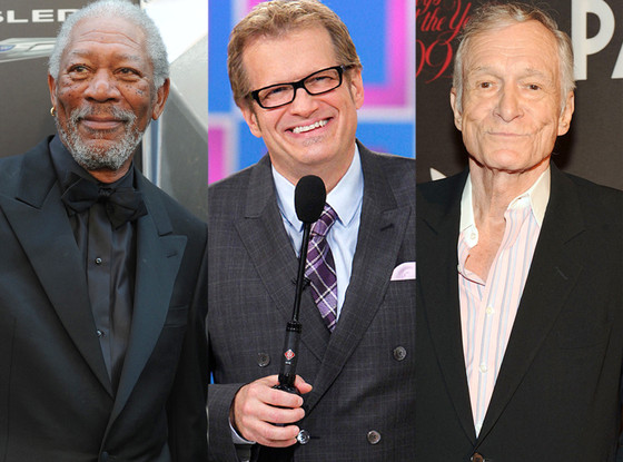 Morgan Freeman, Drew Carey, Hugh Hefner