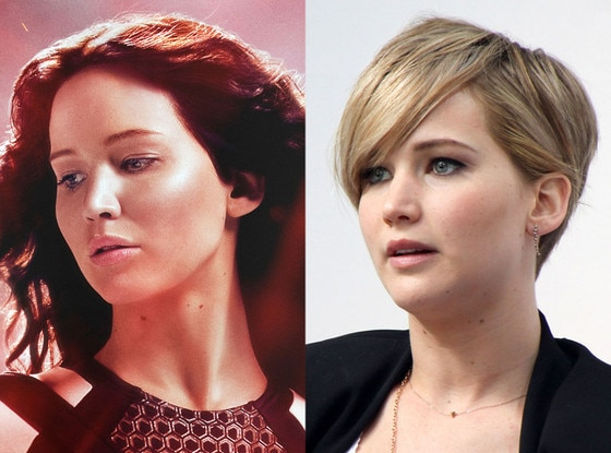 Jennifer Lawrence, Catching Fire, Hair