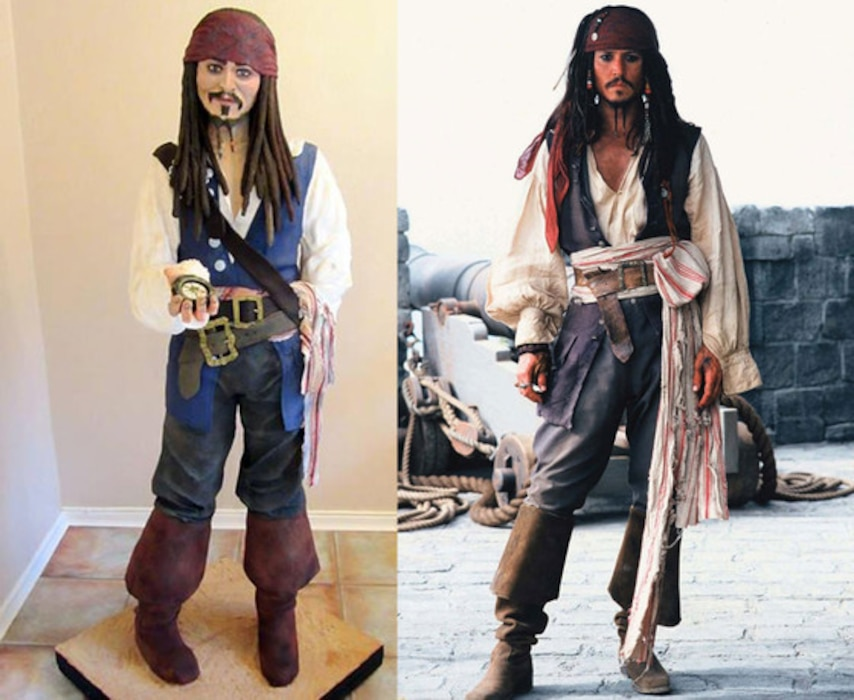 Johnny Depp, Jack Sparrow Cake