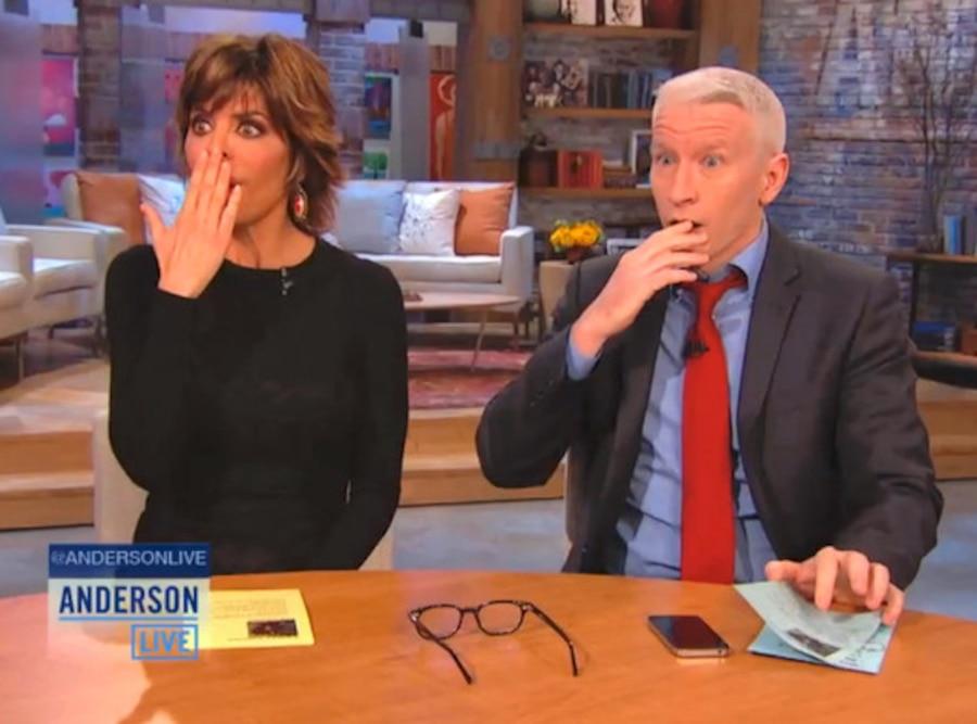 Lisa Rinna, Anderson Cooper Live