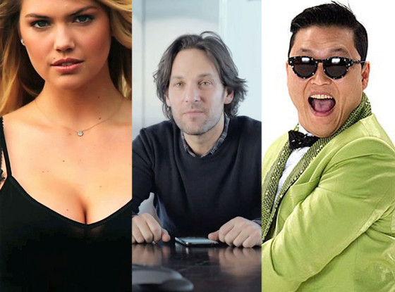 Kate Upton, Paul Rudd, Psy