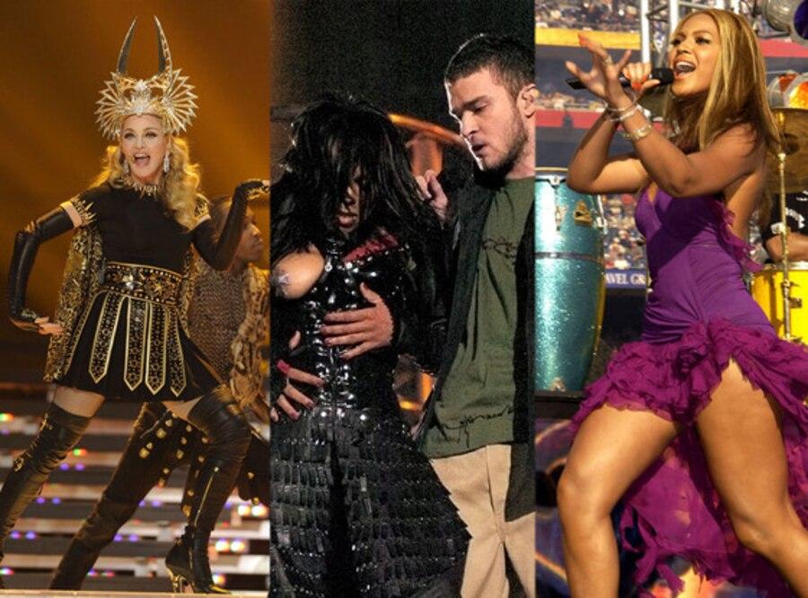 Madonna, Janet Jackson, Justin Timberlake, Beyonce