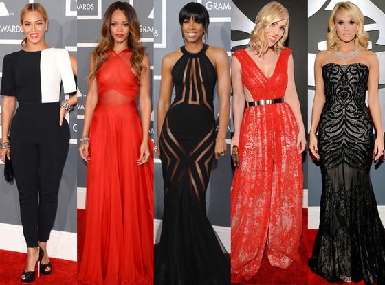 Rihanna, Beyonce, Natasha Bedingfield, Carrie Underwood, Kelly Rowland, Best Dressed Trend