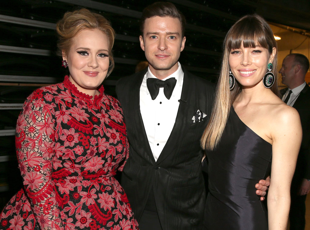 Adele, Jessica Biel, Justin Timberlake, Grammys