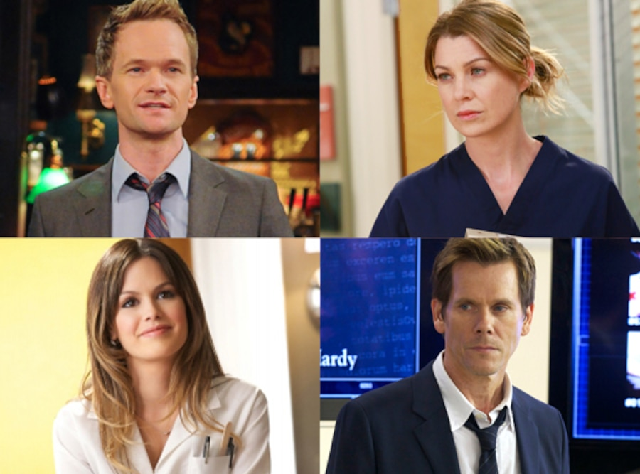 Neil Patrick Harris, How I Met Your Mother, Ellen Pompeo, Grey's, Kevin Bacon, The Following, Rachel Bilson, Hart of Dixie