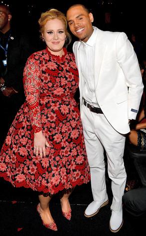 Adele, Chris Brown