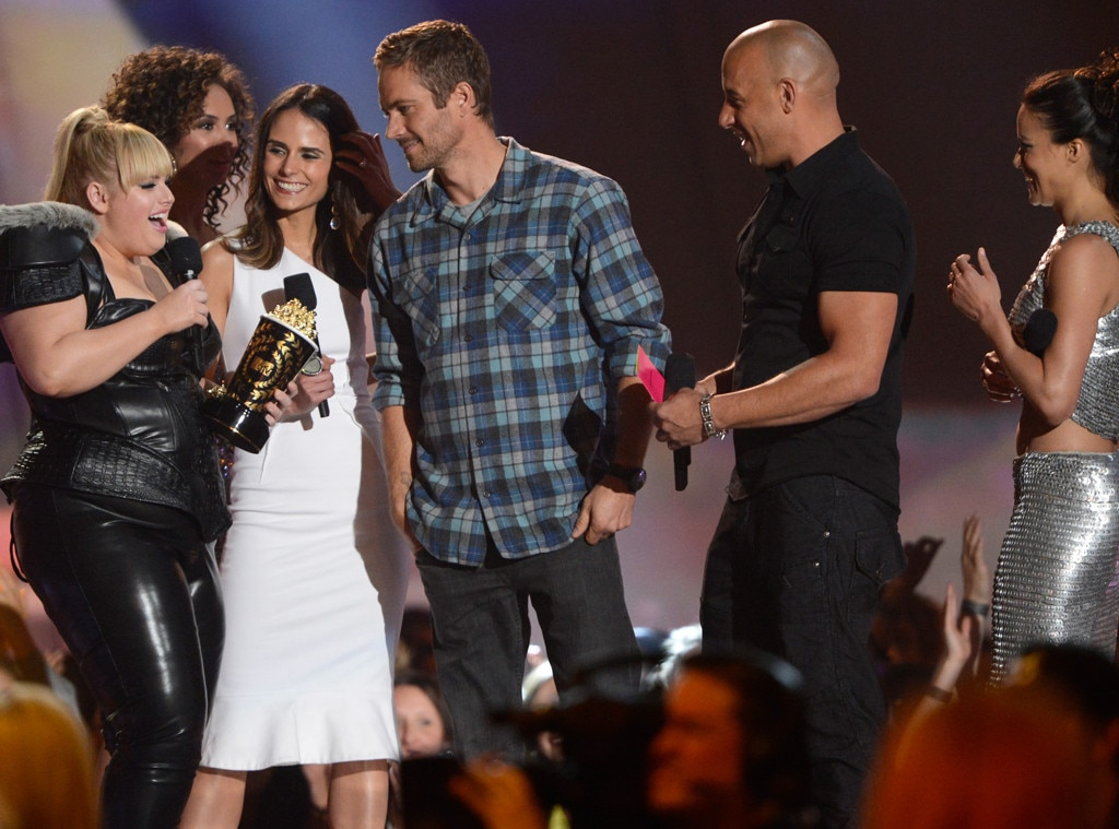 Jordana Brewster, Paul Walker, Vin Diesel and Michelle Rodriguez, Rebel Wilson