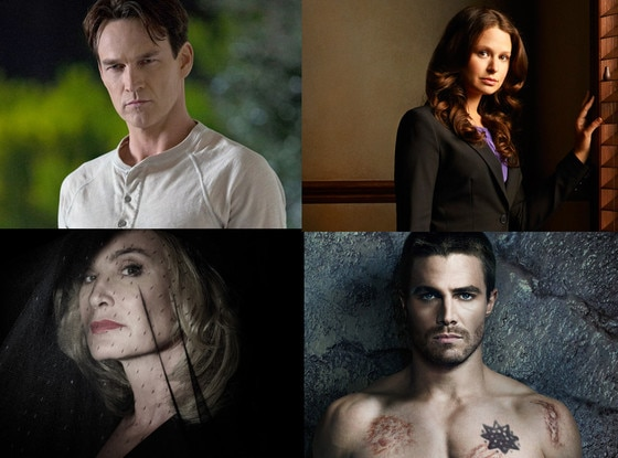 Stephen Amell, Jessica Lange, Stephen Moyer, and Katie Lowes