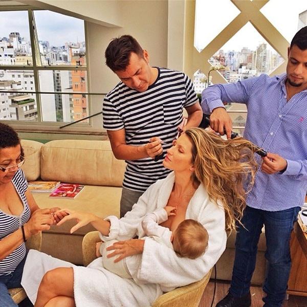 Gisele Bundchen, Instagram, Breastfeeding