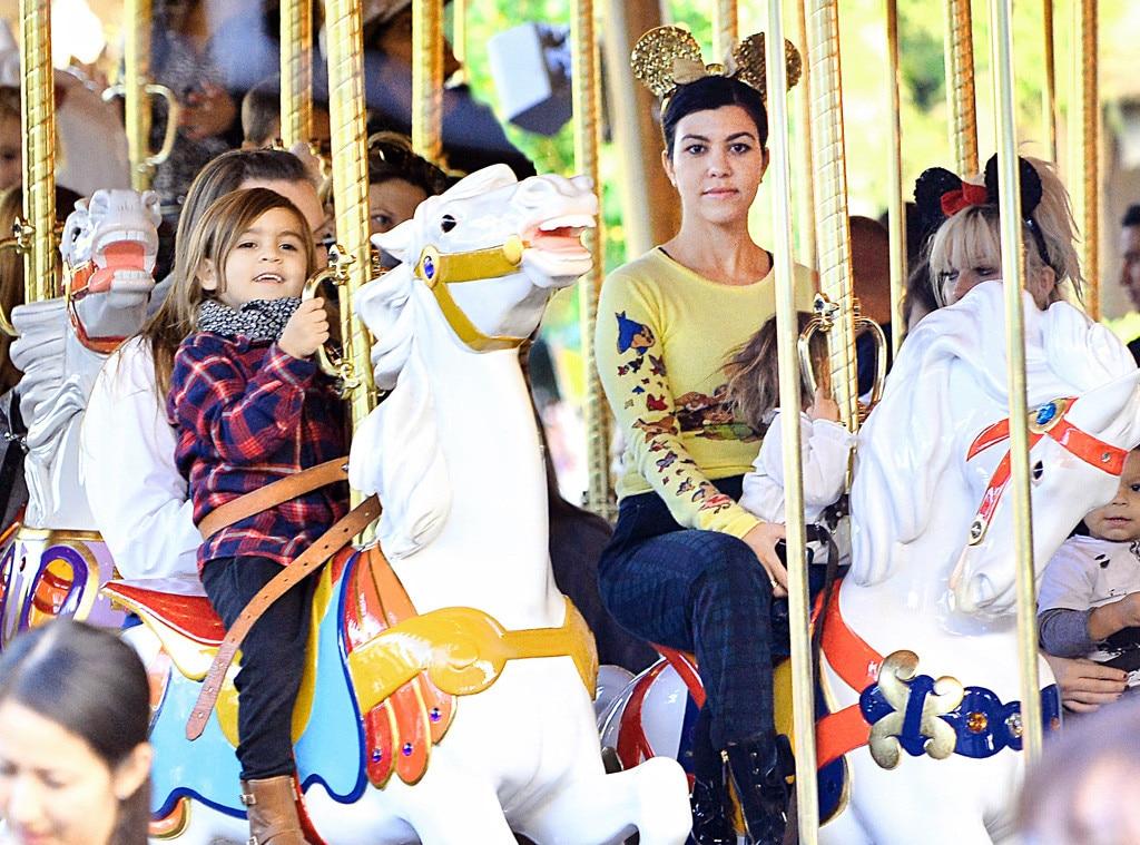 Kourtney Kardashian, Mason Disick, Disneyland