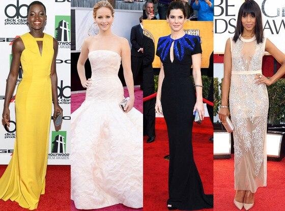 Lupita Nyong'o, Kerry Washington, Jennifer Lawrence, Sandra Bullock