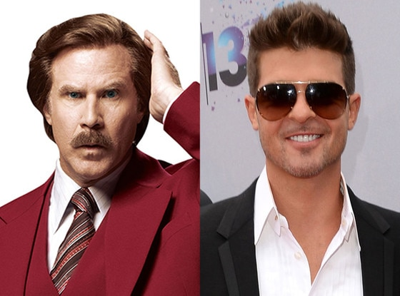 Ron Burgundy, Anchorman, Robin Thicke