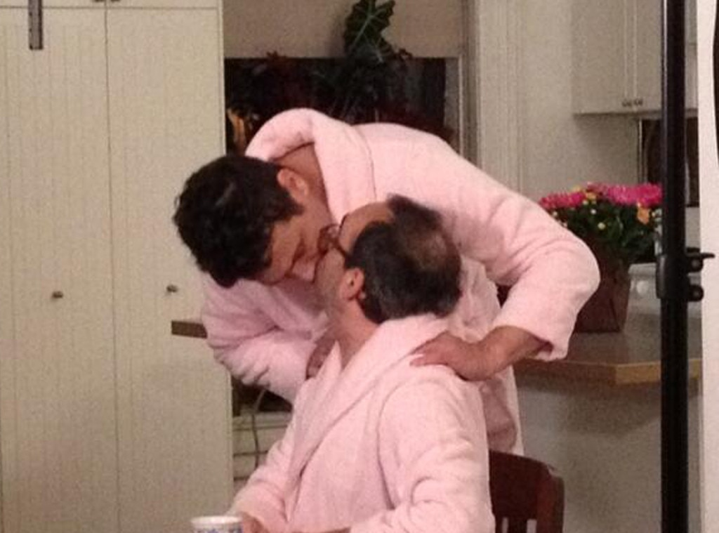 James Franco, Bathrobe, Kiss