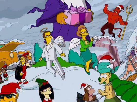 The Simpsons, Opening Credits, Mrs. Krabappel, Angel