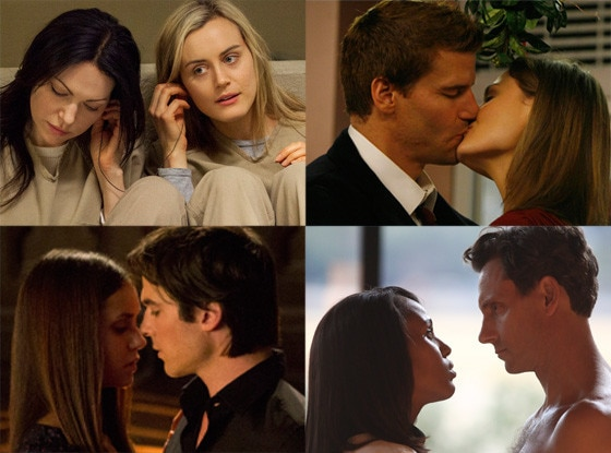 Top TV Couples, Orange is the New Black, Bones, Vampire Diaries, Scandal