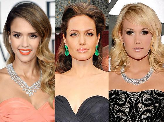 Award Show Bling, Jessica Alba, Angelina Jolie, Carrie Underwood
