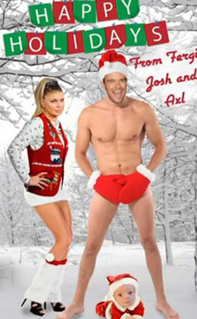 Fergie, Axl, Josh Duhamel Christmas Card