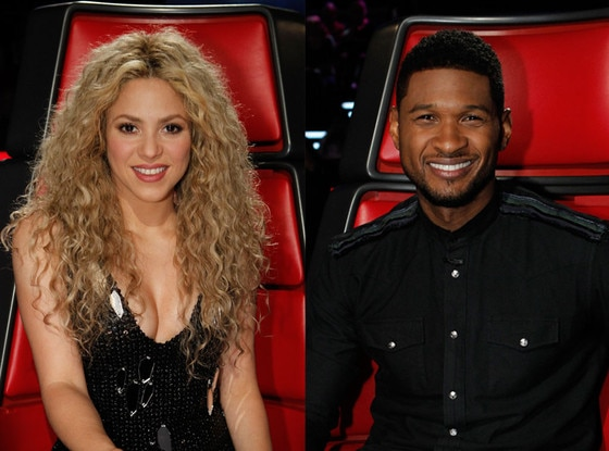 Shakira, Usher, The Voice