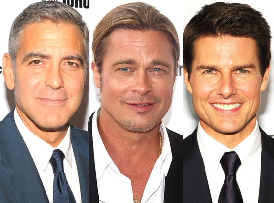 George Clooney, Brad Pitt, Tom Cruise