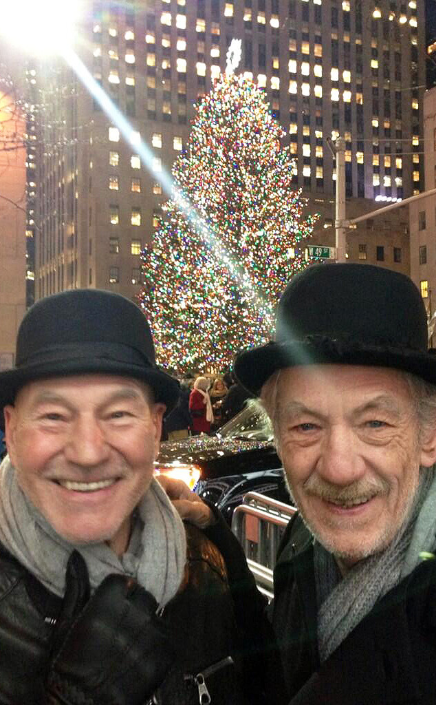 Sir Patrick Stewart, Ian McKellan, Twitter, Christmas