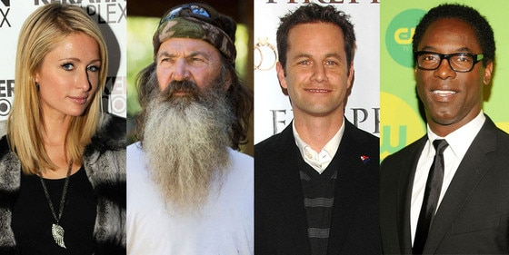 Phil Robertson, Paris Hilton, Kirk Cameron, Isaiah Washington