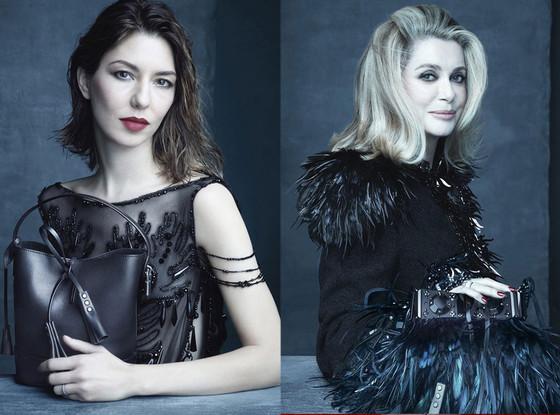 Sofia Coppola, Catherine Deneuve, Louis Vuitton Campaign