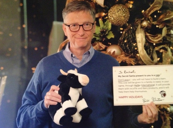 Bill Gates, Christmas Cow