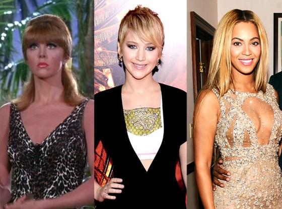 Ginger, Gilligan's Island, Jennifer Lawrence, Beyonce