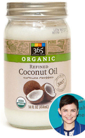 Ginnifer Goodwin, Whole Foods' extra virgin coconut oil