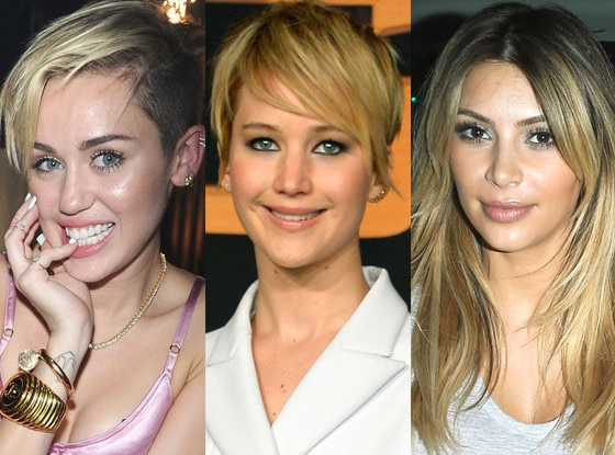 Miley Cyrus, Jennifer Lawrence, Kim Kardashian