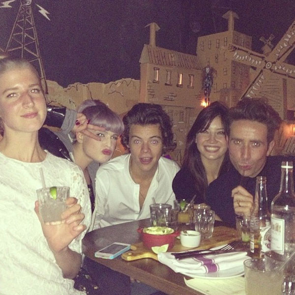 Pixie Geldof, Kelly Osbourne, Harry Styles