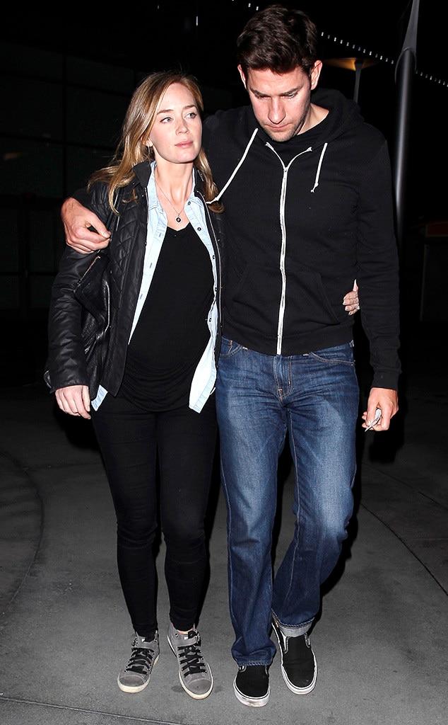 Emily Blunt, John Krasinski, Pregnant