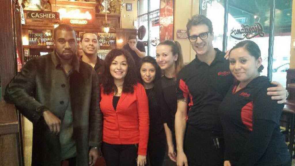 Kim Kardashian, Kanye West, Giordano's Pizza