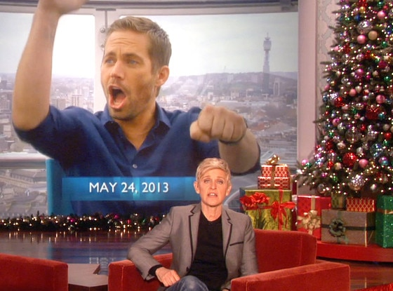 Ellen DeGeneres Show, Paul Walker